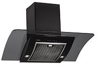 Pyramida RA 90 black/s (900 мм.) наклонная кухонная вытяжка черный корпус / черное стекло, фото 1