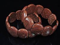 Браслет из коричневого авантюрина, пластина большая