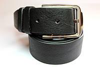 Ремень из итальянской кожи 'Diplom' 40 мм черный
