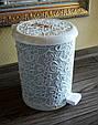 """Ведро для мусора """"Ажур"""" 6 л Elif Plastik, Турция, белое, фото 3"""
