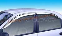 Дефлекторы окон (ветровики) Auto Clover (хром) для Chevrolet Lanos Седан