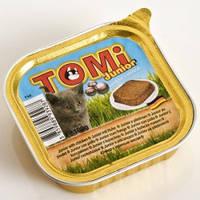 TOMi junior ДЛЯ КОТЯТ консервы для котят, паштет 100гр