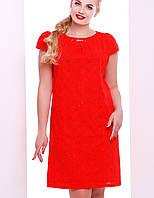 Натуральное платье больших размеров | Амели+ leo