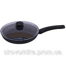 Сковорода с крышкой Биол Оптима 28 см (2804ПС)
