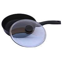 Сковорода с крышкой Биол Классик  22 см (2207ПС), фото 1