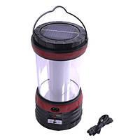 Кемпинговый фонарь-лампа на солнечной батарее YAJIA 5835 XT