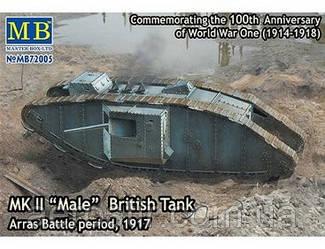 Британский танк Mk.II 'Male' 1\72 Master Box 72005