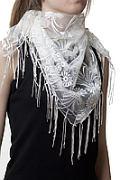 Свадебный платок бежевый, фото 1
