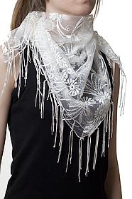Свадебный платок бежевый