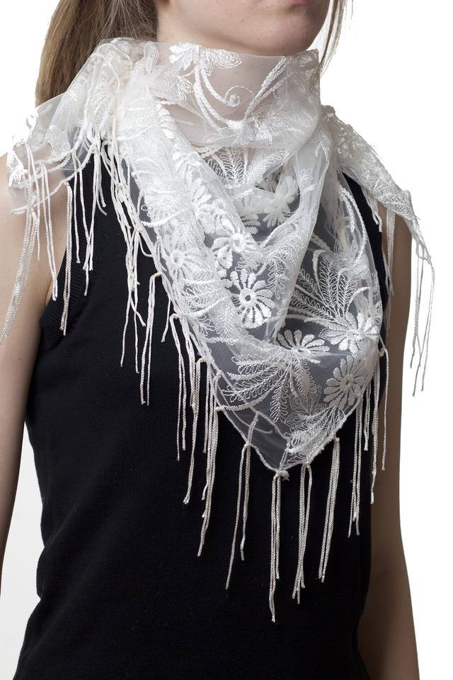 Свадебный платок бежевый 1