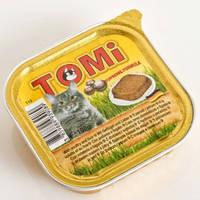 TOMi poultry liver ПТИЦА ПЕЧЕНЬ консервы для кошек, паштет 100гр