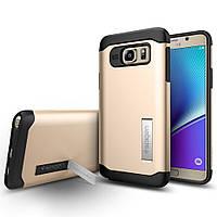Чехол SGP Spigen Slim Armor для Samsung Galaxy Note 5 N920 Champagne Gold, фото 1