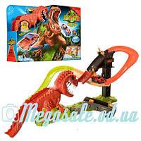 Трек гоночный инерционный Мир Динозавров 8899-91: машинка + динозавр (англ. язык)