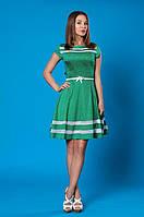Легкое летнее платье в зеленом цвете