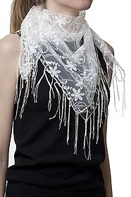 Свадебный платок бежевый нежность