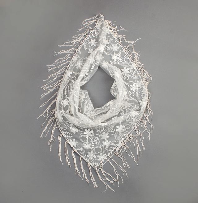 Свадебный платок бежевый нежность 3