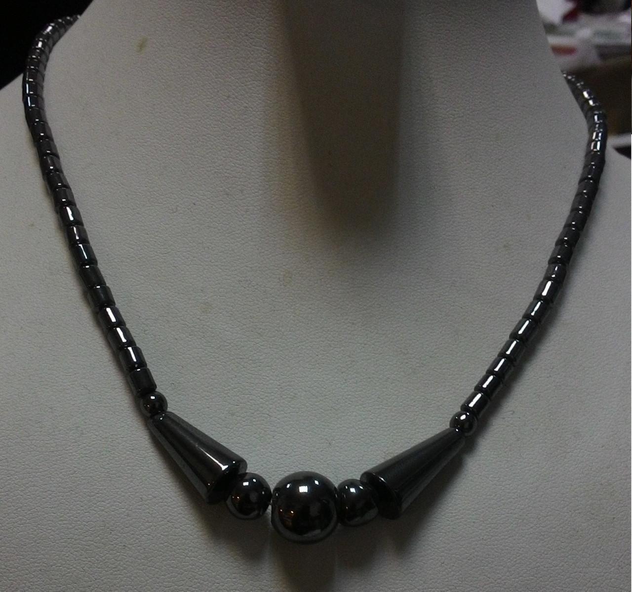 Гематитові намисто «Чарівність» 45см (4мм)