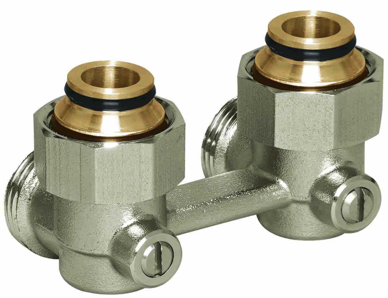 Вузол нижнього підключення радіаторів з зовнішньою різьбою 3/4' Basicline (Rossweiner) (Кутовий)