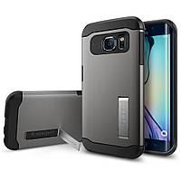 Чехол SGP Spigen Slim Armor для Samsung Galaxy S6 Edge G925 Gunmetal