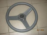 Рулевое колесо три спицы пластик 32 см серое
