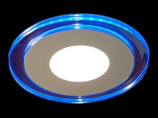 Светодиодная панель LM 496 6W 4500K круг син. подсветк. наружн. Код.58666