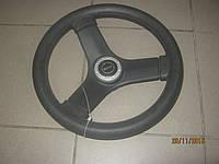 Рулевое колесо три спицы пластик 34 см черное