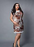 Нарядное женское платье коричневого цвета