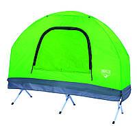 Палатка-раскладушка палатка + раскладушка + матрас + спальный мешок + насос туристическая рыбацкая кемпинговая