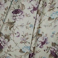 Портьерная ткань блекаут Азалия, цвет фиолет+голубой