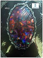 Фольга эффект битого стекла самоклеящаяся №12