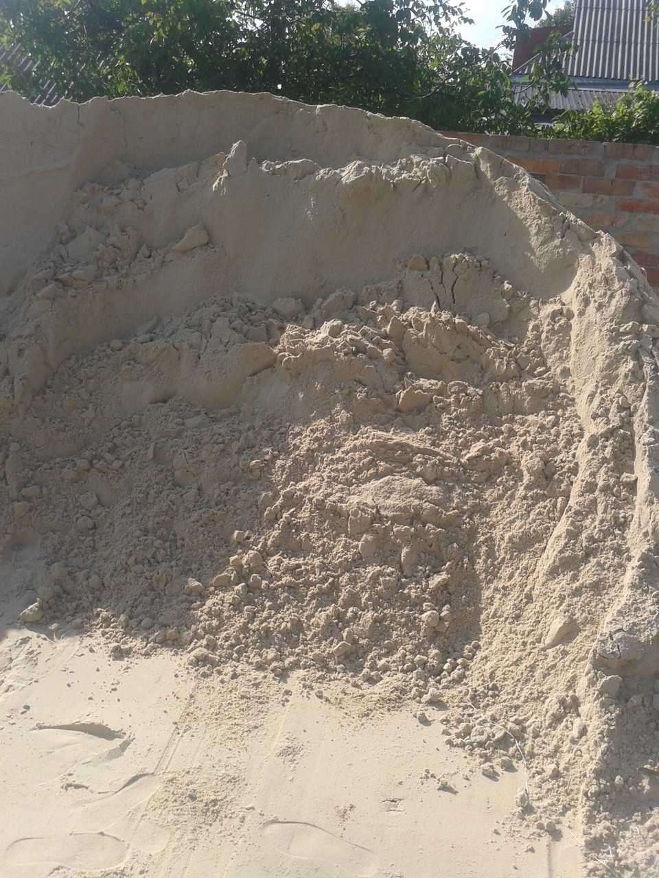 Песок речной(1 тонна)