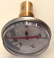 """Термометр воды погружной (указатель температуры) для котлов, под """"резьбу"""" 14 мм, диаметр 55 мм, код сайта 5001"""
