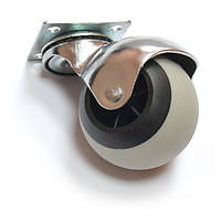 Ролик мебельный круглый поворотный Д-50 мм