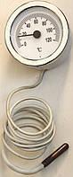 Термометр воды капиллярный 1000 мм (0-120 градусов) для котлов, круглый 60 мм, код сайта 5002