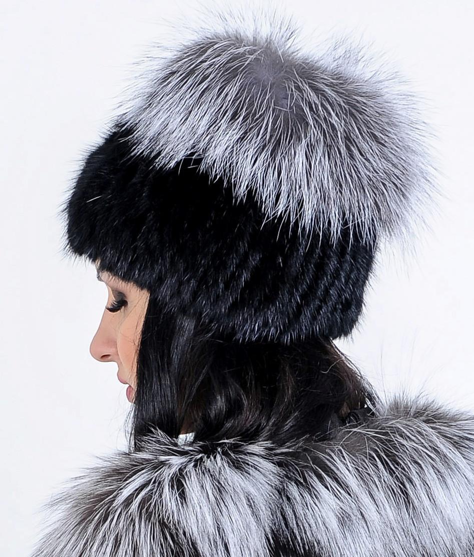 6c2ddcefcd6c Меховая шапка из чернобурки