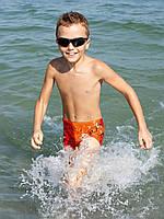 Эксклюзивные плавки-шорты с тигром мальчик оранжевый 80%полиамид,20%эластан BX 101306 Nirey, Италия 164(р
