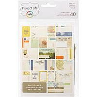 Набор карточек Project Life Travel 40 шт (718813977135)