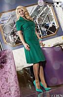 Офисное платье с пуговицами, фото 1