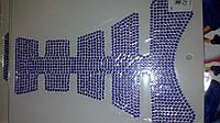 Наклейка   на бак   (20x16см, стразы синие)