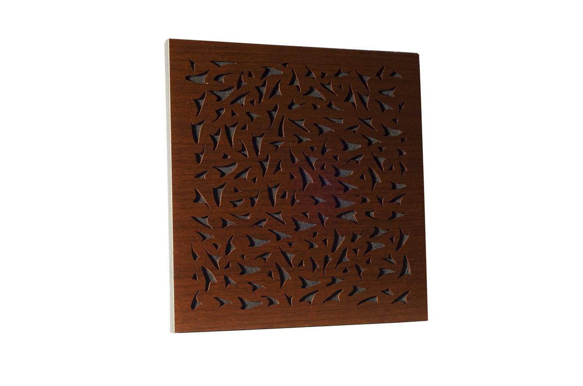 Акустическая панель Ecosound EcoFly brown 50х50 см 53мм цвет коричневый