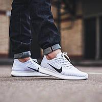 Nike Free Run Flyknit White × Pure Platinum