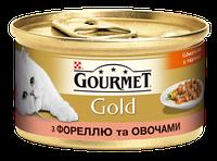 Gourmet Gold (Гурмет Голд) кусочки в подливке с форелью и овощами 85гр