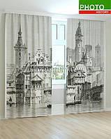 Фотошторы черно-белая Венеция 3D