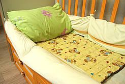 Матрас микромассажный из проса детский в кроватку Эко Матера 60х90 см