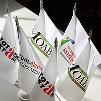 Печать флажков с логотипом