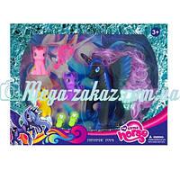 """Игровой набор """"Пони"""" (аналог My little Pony): 4 пони + расческа"""