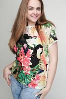 Женская футболка батал Птицы