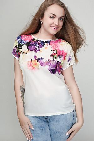 Женская футболка батал 605А