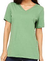 Футболка Bella + Canvas Women's Relaxed V-Neck Tee Leaf