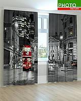 Фотошторы красный автобус в вечернем Лондоне 3D